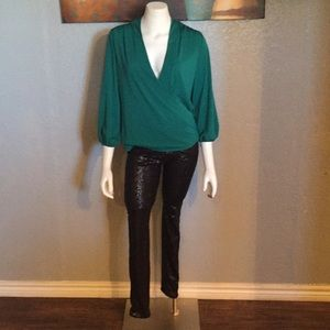 Stylish green blouse!